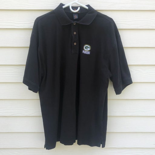 Men's Black Greenbay Packers Polo Shirt