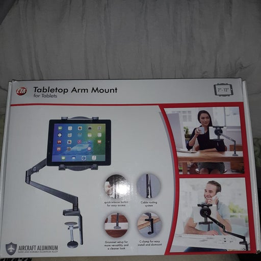 Cta tabletop arm mount for tablets