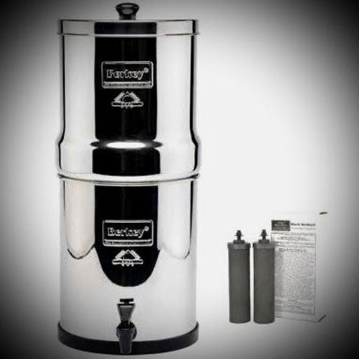4.5 gal. Berkey water filter system with 4 filters