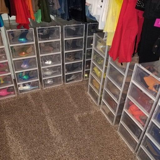 10 Shoe Storage Bin Boxes Rack