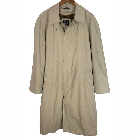 Jos. A Bank Tan Lined Raincoat Trench