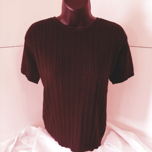 Crystal kobe black knit blouse