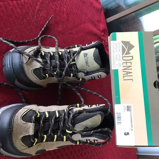 Denali Clearwater Jr. Hiking Boots Shoes Youth Kids Size 5 Brown Black MY0221A