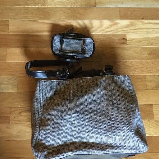 Herringbone Purse with wallet
