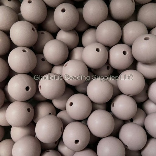 25 Qty 15mm Solid Color Silicone Bead #26