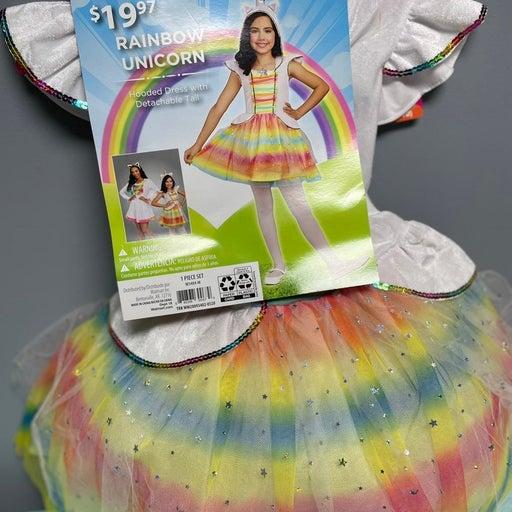 BRAND NEW RAINBOW UNICORN CUSTOME GIRLS  M 8-10