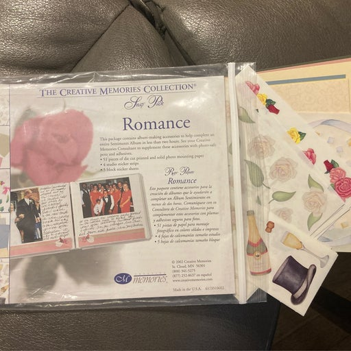 Creative memories romance snap pack