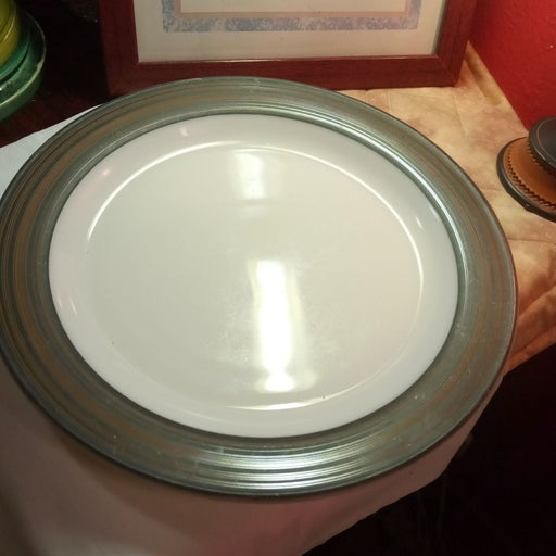 Vintage Pyrex Milk glass Serving Plate