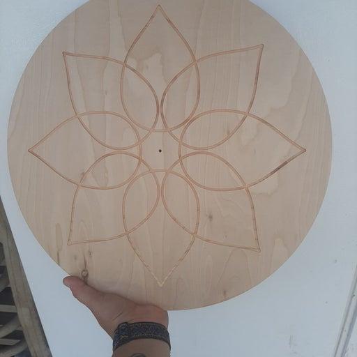 "16"" lotus handmade crystal grid incense"