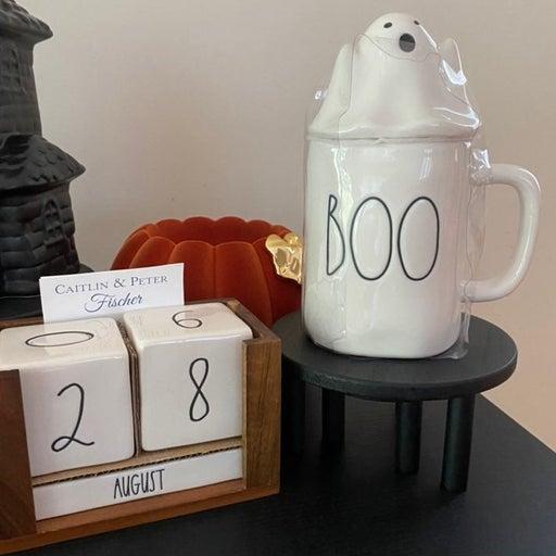 Rae Dunn Halloween Boo Ghost Topper Mug