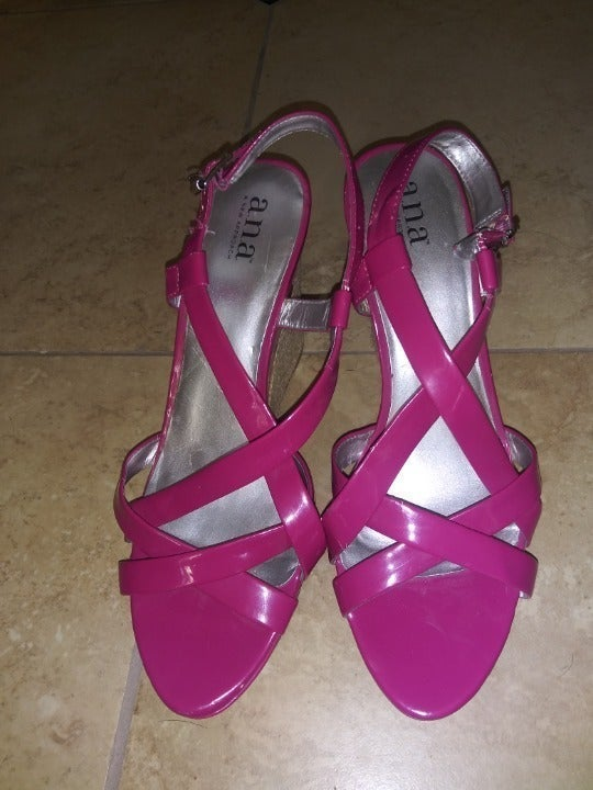 a.n.a  magenta wedge heels 10