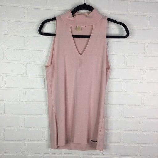MICHAEL Michael Kors Choker Tank Blouse Pink Large
