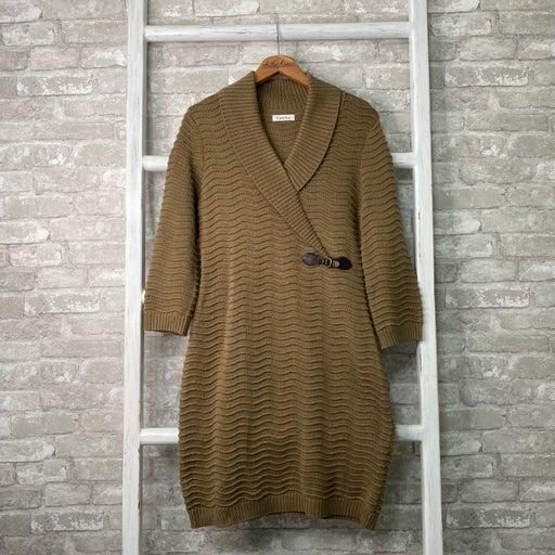 Calvin Klein Brown Sweater Dress Size P
