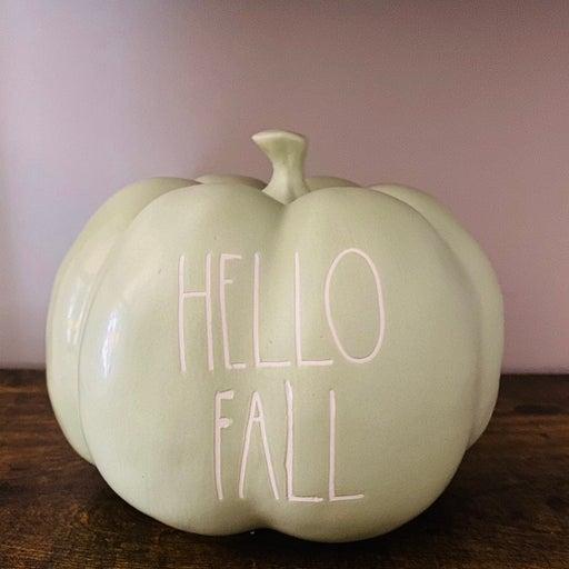 Rae Dunn Hello fall large pumpkin