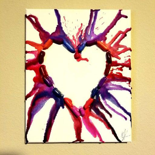 3D Crayola Heart