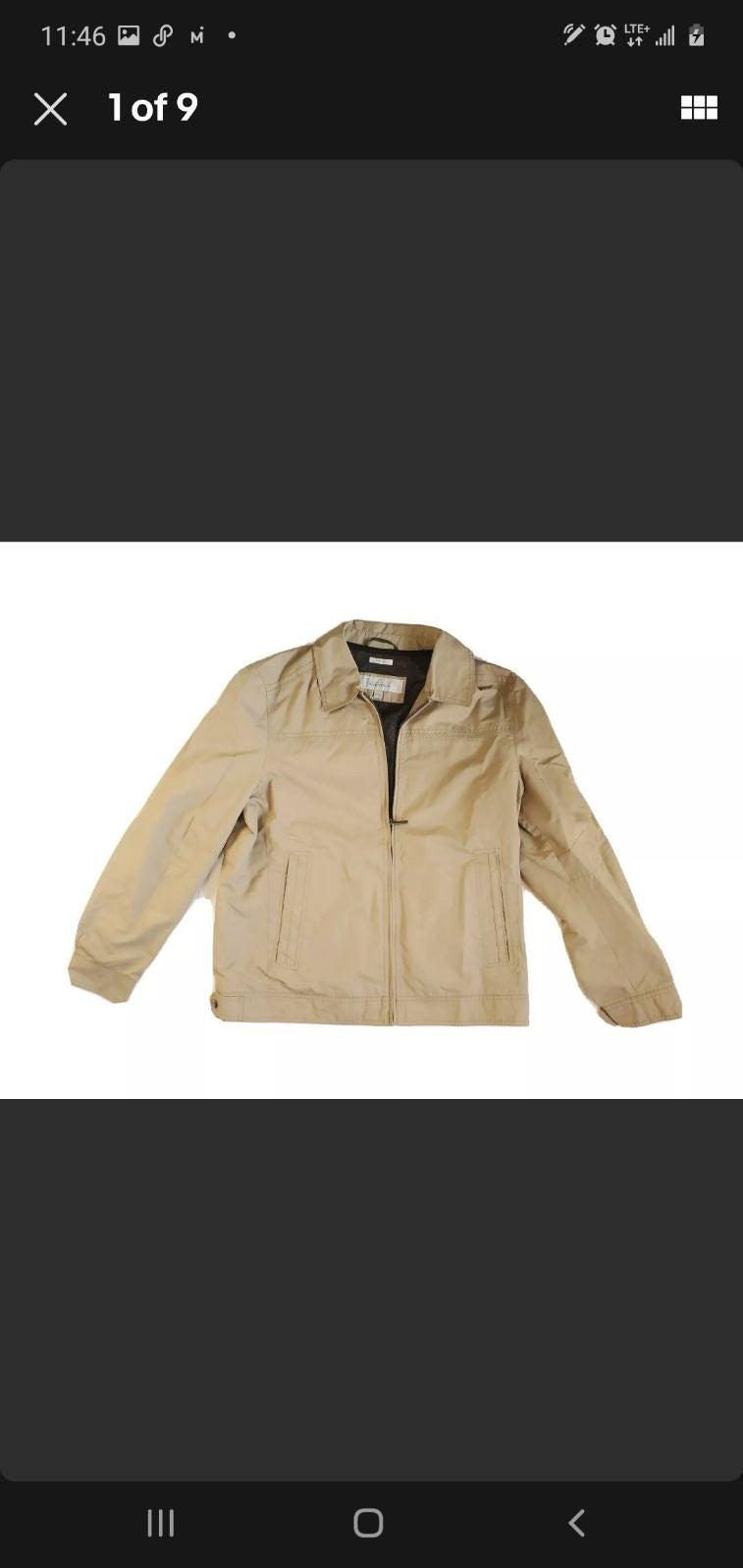 Perry Ellis portfolio jacket dobby tech