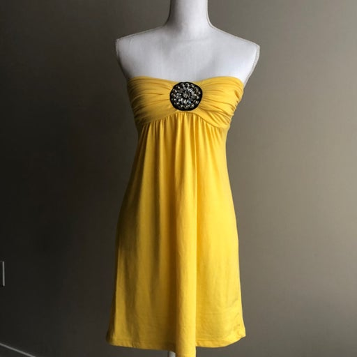 Strapless summer dress or swim cover up