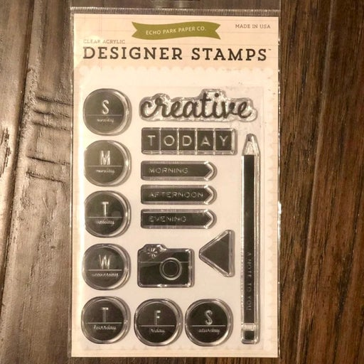 Planner clear stamps set