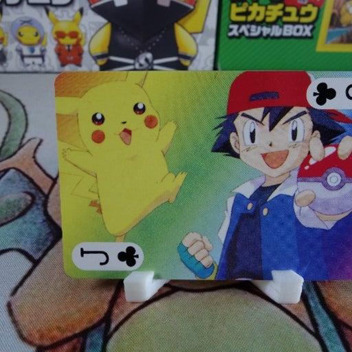 Ash and Pikachu Playing Card - 1999 Japanese Pokemon Poker Card