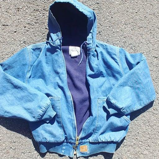 Rare denim vintage walls hooded jacket s
