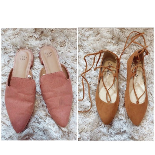Bundle of 2 pairs of flats - Size 6.5