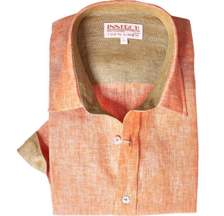 Men's Inserch 100% Linen Dress Shirt SzM