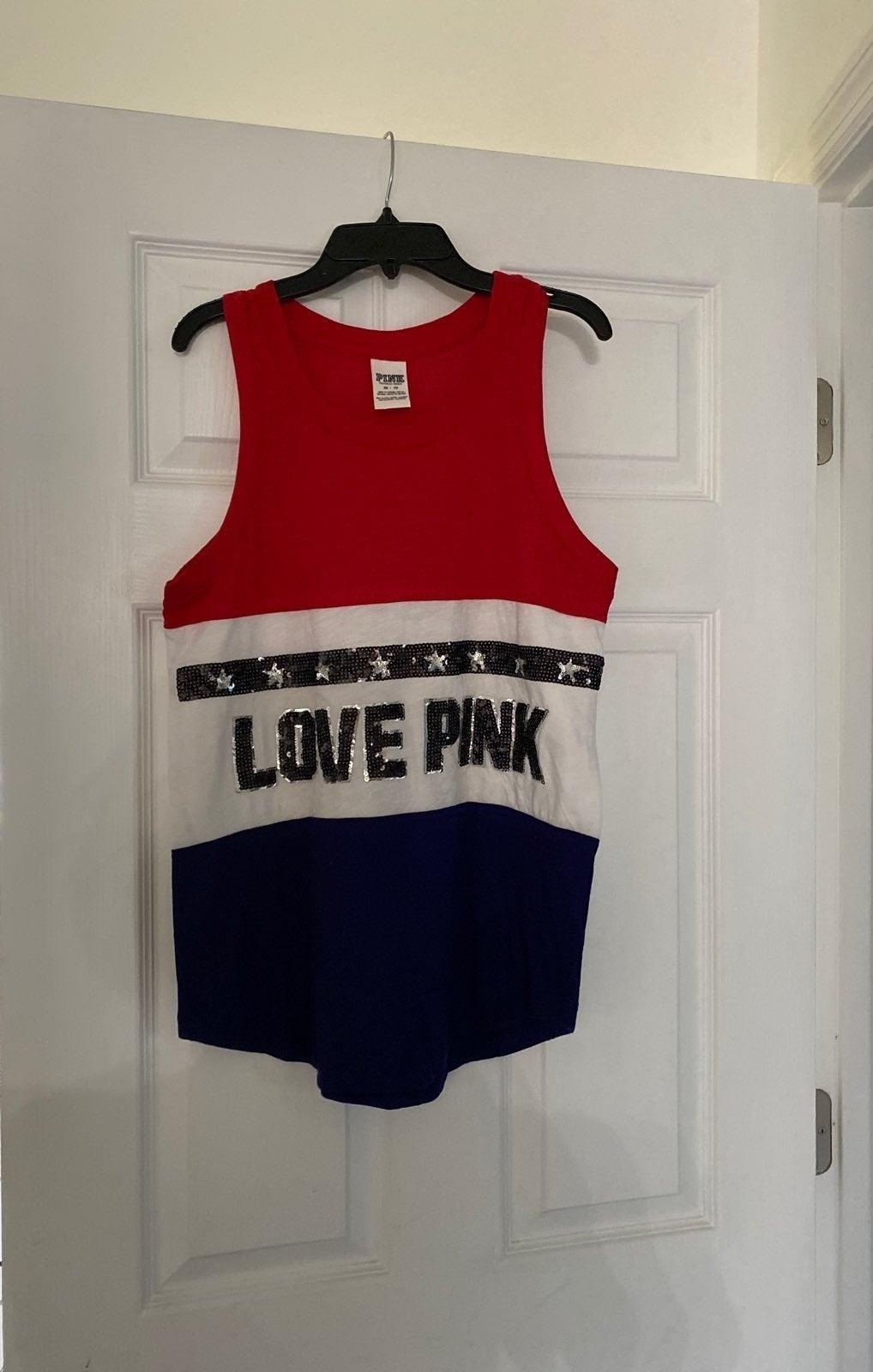 VS PINK Red White & Blue + Bling Tank