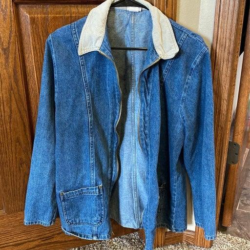 Crossroads zipper jean jacket