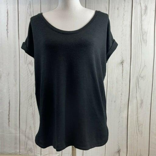 Gap Women's S Black Rolled Short Sleeve Sweater Top