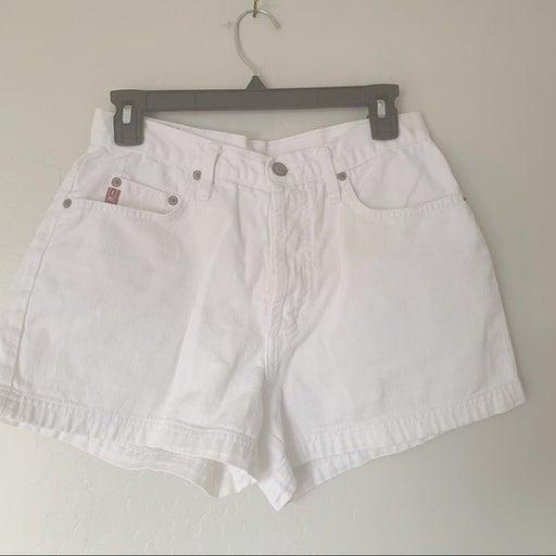 Vintage Lei White High Rise Jean Shorts