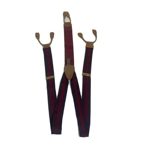Trafalgar Suspenders Dark Red Tan strip