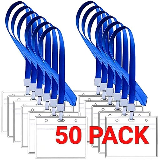 50 PK Vaccine card holder with lanyards