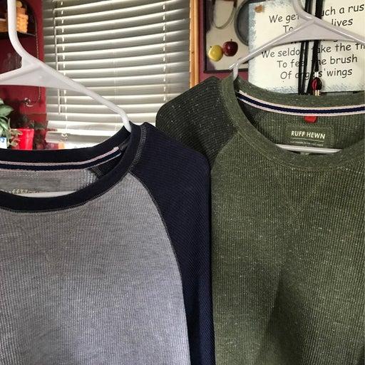 Long Sleeve Mens shirts Size Large Lot os 2