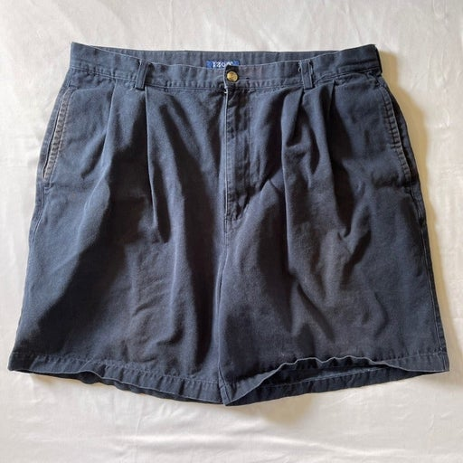Izod Navy Blue Men's Flat Front Shorts With Pockets
