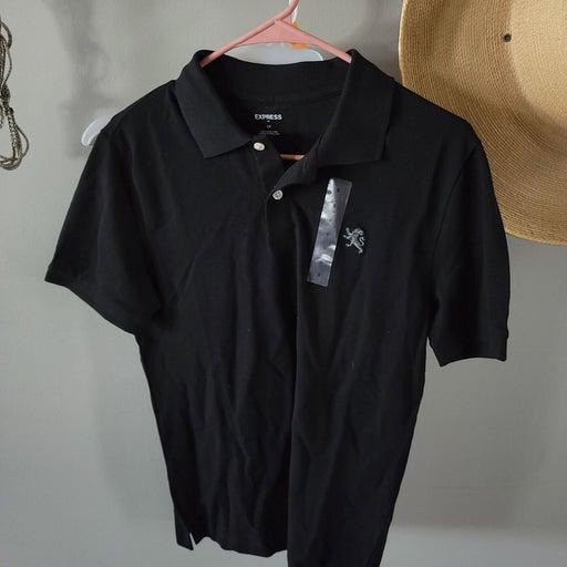 Black express polo