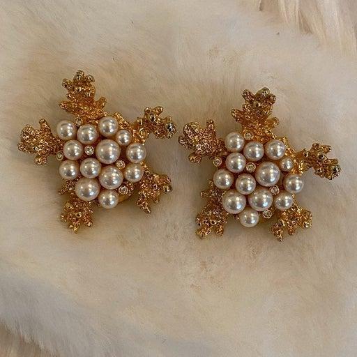 Jewel Craft Vintage Clip On Earrings