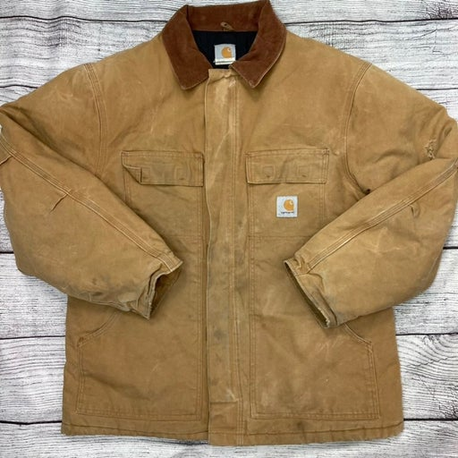 Vintage Carhartt Heavy Denim Work Coat