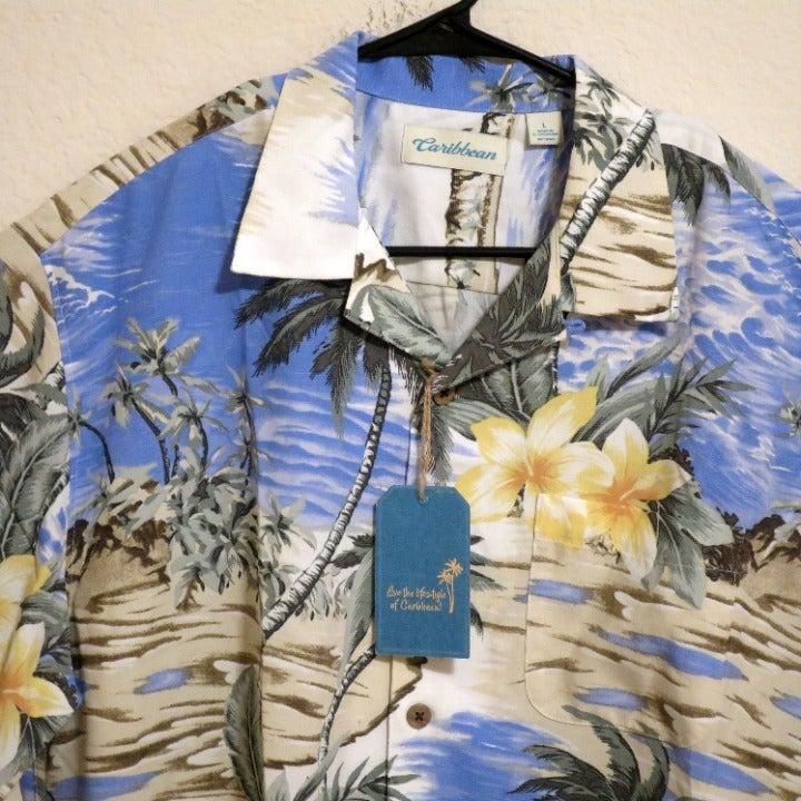 Caribbean Short Sleeved Shirt Large
