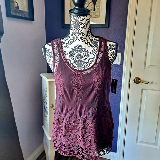 INC Embroided Top