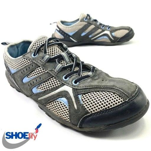 EUC! Croft & Barrow Gray + Light Blue Lace Up Shoes Women's Size 8.5 M