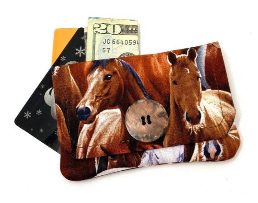 New Horse Fabric Card Wallet-Handmade