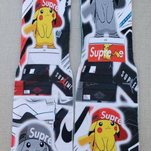 Custom PIKACHU Hypebeast Sock