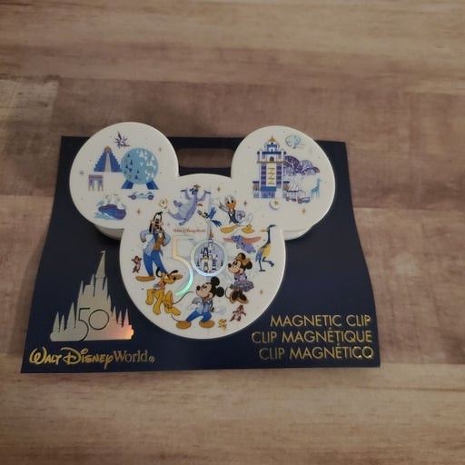 WDW 50th Anniversary Magnet Clip