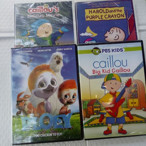 DVD mixed lot of 4 Caillou & Harold with