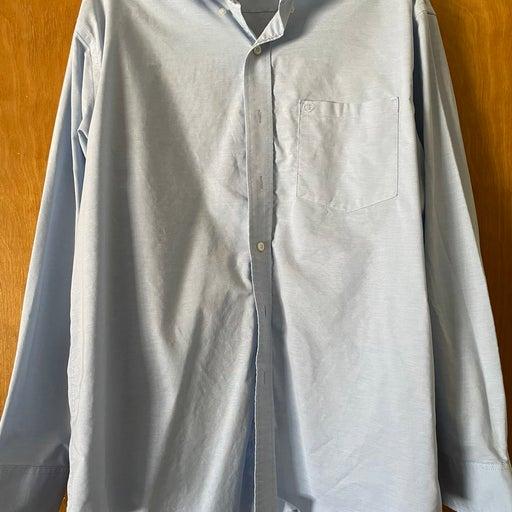 Mens Blue Izod Dress Shirt