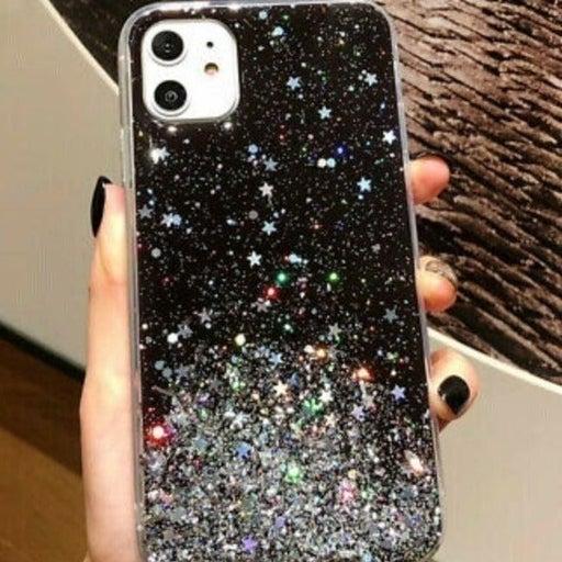 New iPhone 12 PRO Black Galaxy Glitter