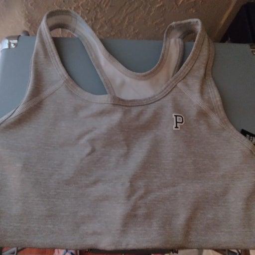 VS Pink ultimate sports bra in gray