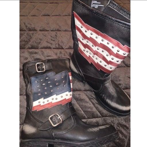 Women's Custom Made Patriotic Boots