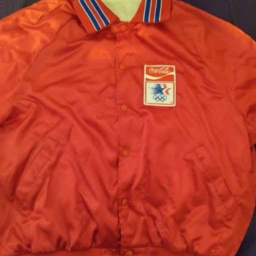 Red coca cola olympic jacket