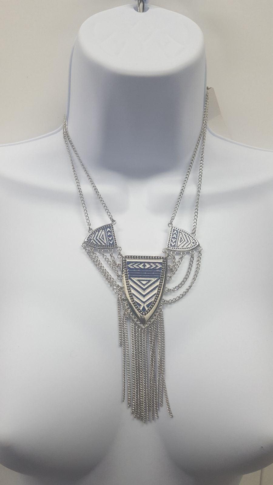 Jessica Simpson Blue Boho Necklace